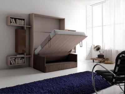 Un lit escamotable : lit la nuit, mur le jour